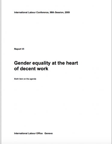 Knowledge Equality >> Gender Equality At The Heart Of Decent Work Civil Society